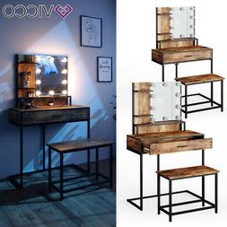Coiffeuse Vicco Fyrk, table de maquillage, commode de maquil