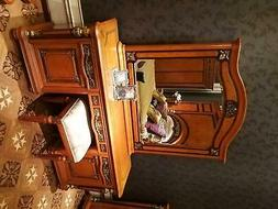Coiffeuse+Miroir+Tabouret Noble Console Chambre Commode Baro