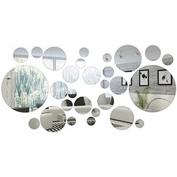 Shappy 32 Pieces Removable Acrylic Mirror Setting Wall Stick